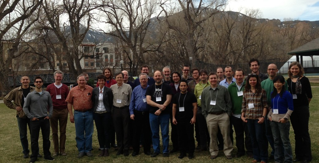 Participants of the Art and Science of Reduced Complexity Modeling Workshop, held in Boulder in March 2013.